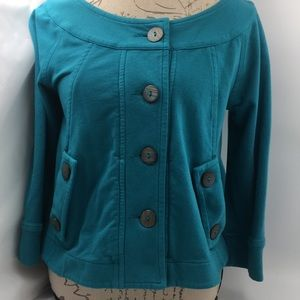 City Lights Turquoise Baby Doll Jacket Size L